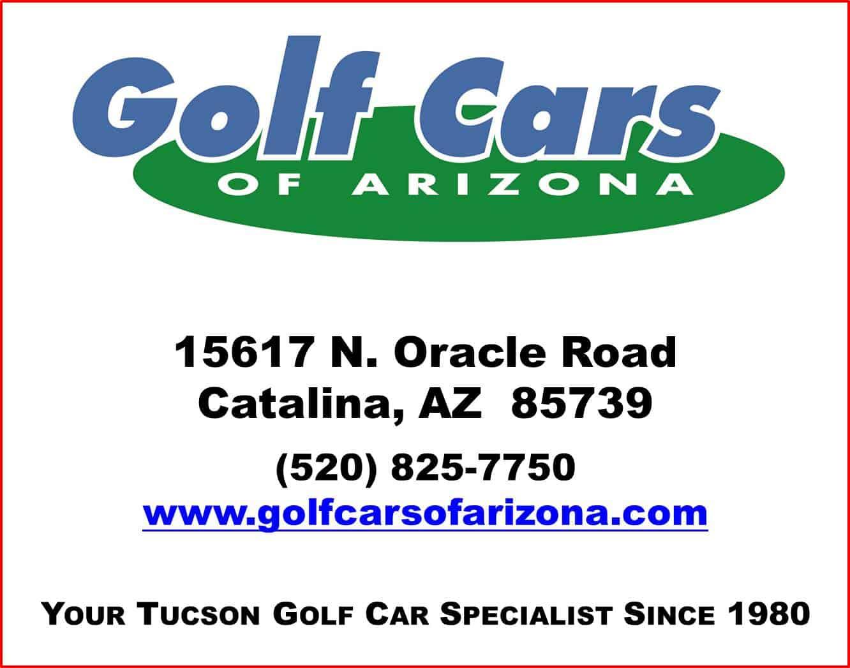 Golf Cars of Arizona Sponsor Card